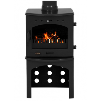 Carron Log Store For 4.7KW Stove - Black Enamel