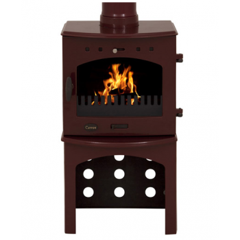 Carron Log Store For 4.7KW Stove - Red Enamel