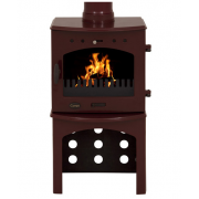 Log Store For 4.7KW Stove - Red Enamel