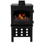 Log Store For 7.3KW Stove - Black Enamel