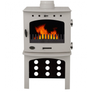 Log Store For 7.3KW Stove - Cream Enamel