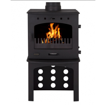 Carron Log Store For 7.3KW Stove - Matt Black