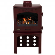 Log Store For 7.3KW Stove - Red Enamel