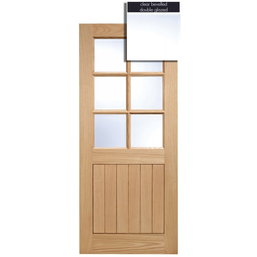 Lpd adoorable oak cottage 6 light double glazed exterior for Double glazed exterior doors