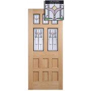 Adoorable Oak Knightsbridge 5 Light Double Glazed Exterior/External Door