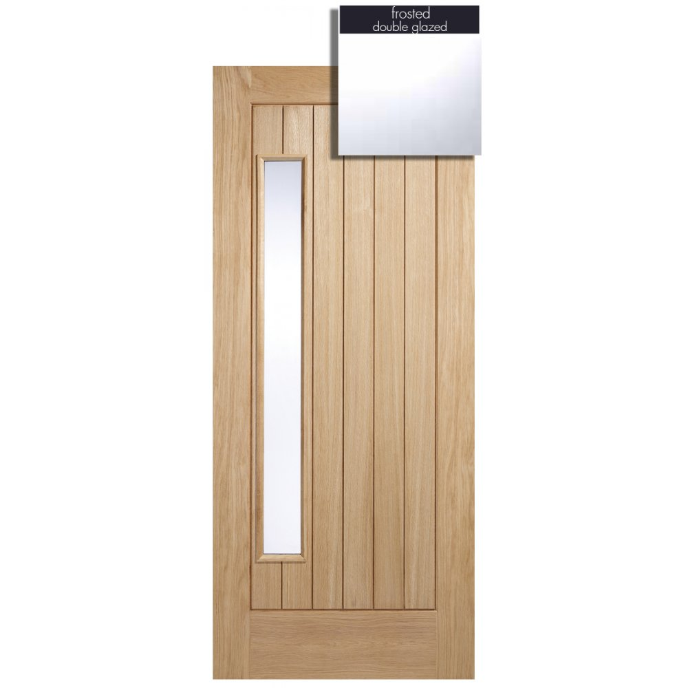 Lpd adoorable oak newbury 1 light double glazed exterior for Double glazed exterior doors