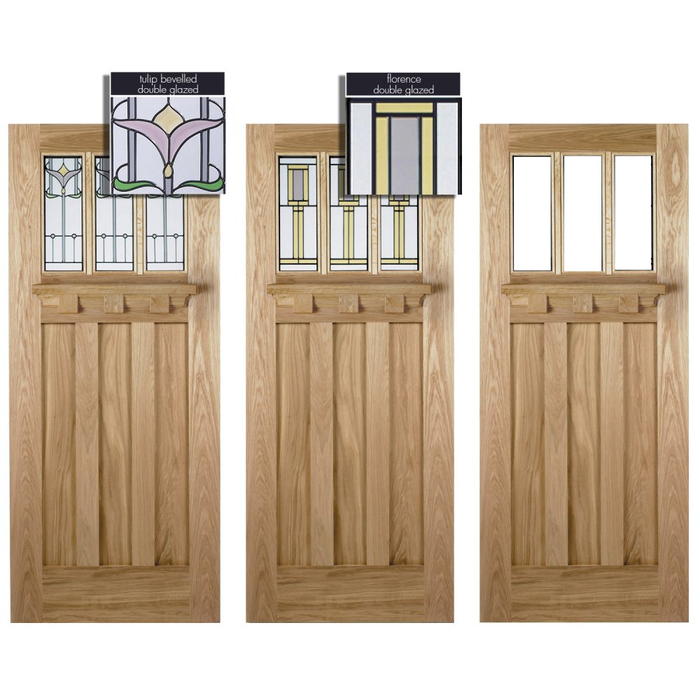 LPD Doors Adoorable Oak Tuscany 3 Light Double Glazed Exterior/External Door. u2039  sc 1 st  Period Property Store : lpd doors - pezcame.com