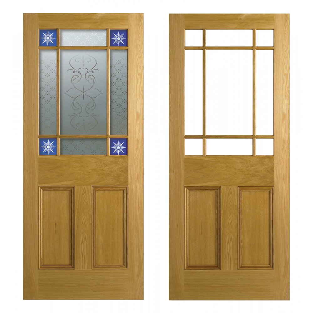 Lpd Doors Malton Smoked Abe Lead Glazed Pitch Pine Door