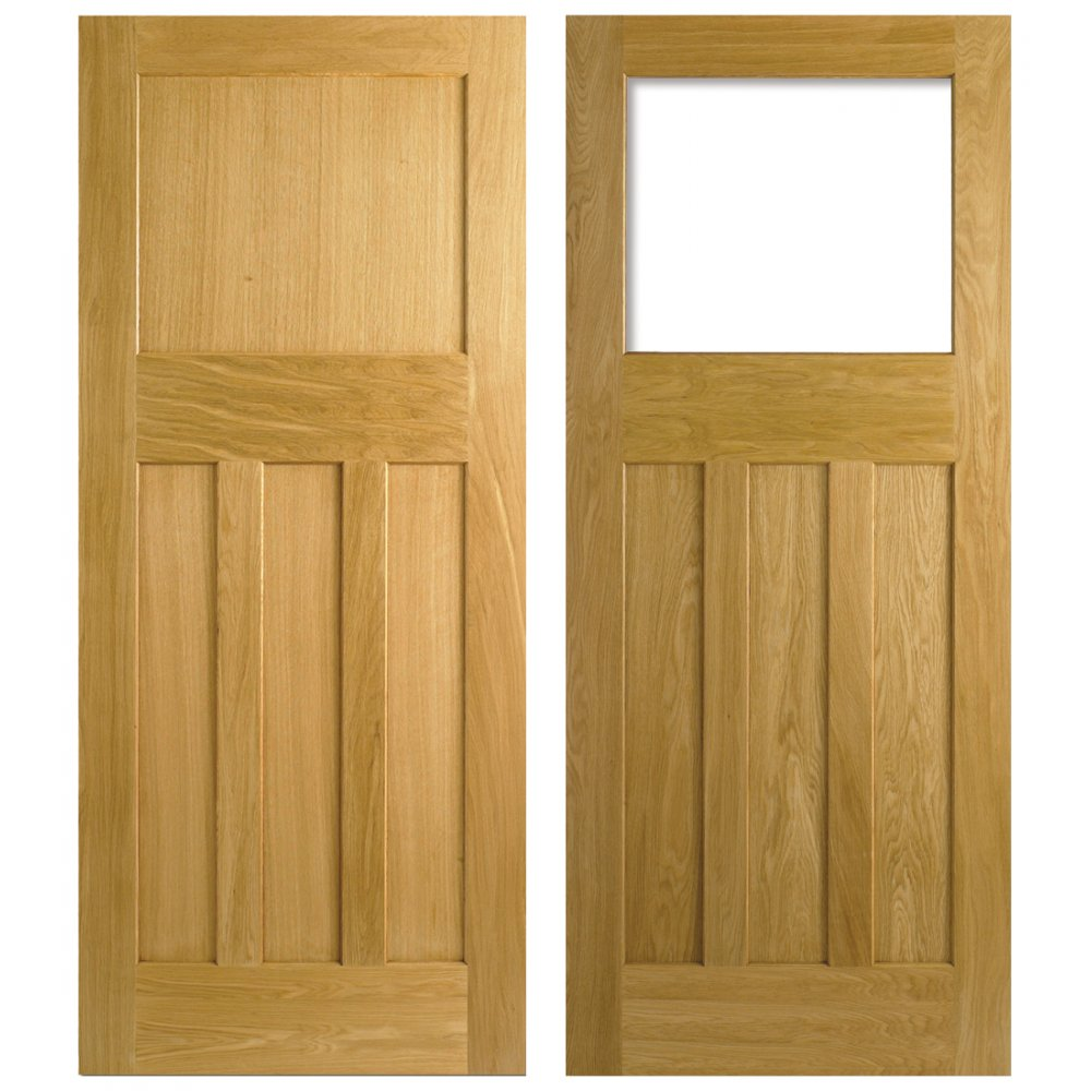 Lpd nostalgia 1930s style one over three panel white oak for Interior panel doors