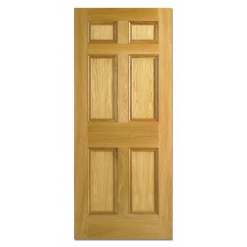 LPD Doors Nostalgia Georgian Style Six Panel White Oak Interior/Internal Door