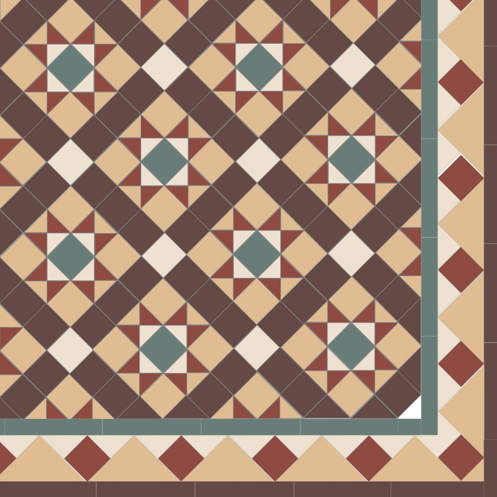 Border floor tiles