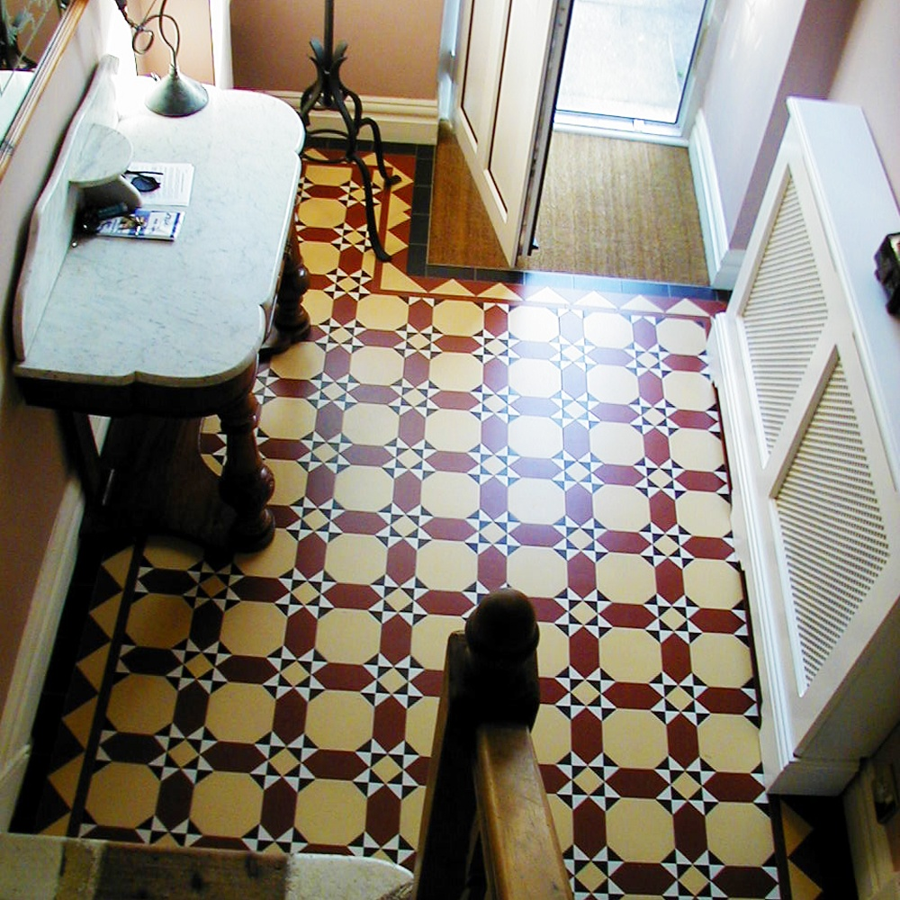 Olde English Torridon Geometric Floor Tiles Flooring