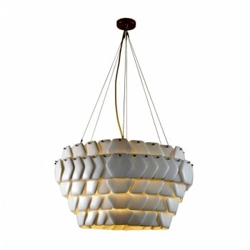 Original BTC Cranton Hexagonal Pendant, Sand and Taupe Braided Cable