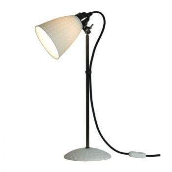 Original BTC Hector 21 Table Lamp - White Textured