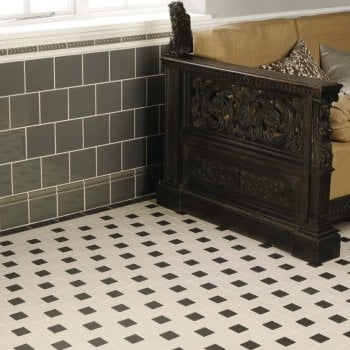 Original Style Lincoln Geometric Design Victorian Floor Tiles