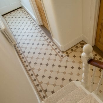 Original Style Nottingham Design Pattern Victorian Floor Tiles