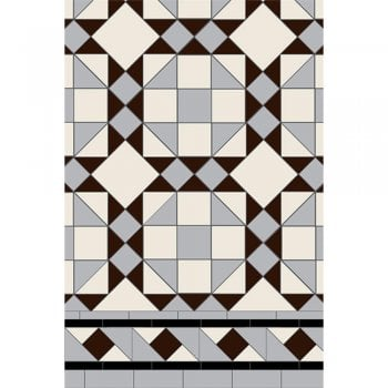 Original Style Rochester 3 colour Pattern Victorian Floor Tiles