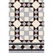 Rochester 3 colour Pattern Victorian Floor Tiles