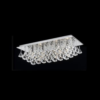Impex Lighting Parma Crystal Oblong Flush Ceiling Light