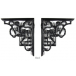 PPS Pair of Traditional Antique Victorian Style Cast Iron Cherub Shelf/Cistern Brackets - Black