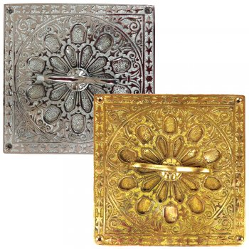 PPS Solid Brass/Chrome Plated Brass Traditional Style Square Air Vents