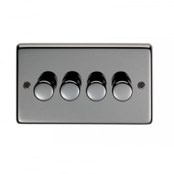 From the Anvil Quad 400W Dimmer Switch - Black Nickel