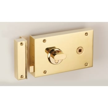 Quality Locks The Somerford Rim Lock with Euro Cylinder and Thumbturn