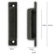 Replacement Cast Iron Door Keep DK04 - Cast Iron