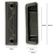 Replacement Cast Iron Door Keep DK09 - Cast Iron