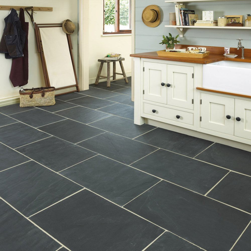 Classical Flagstones Rustic Black Slate Tiles