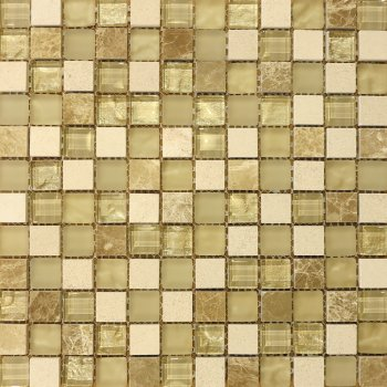 Marshalls Tile & Stone Santa Capa Square Glass Mosaic Tiles
