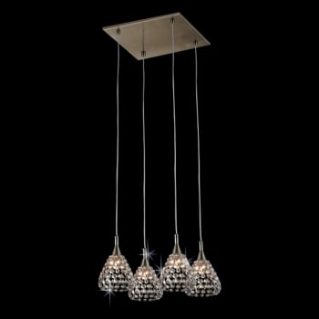Impex Lighting Simone 4LT G9 Crystal Pendant