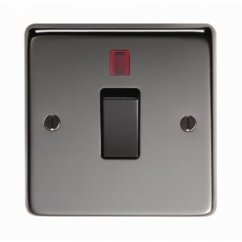 From the Anvil Single 20amp Switch With Neon - Black Nickel