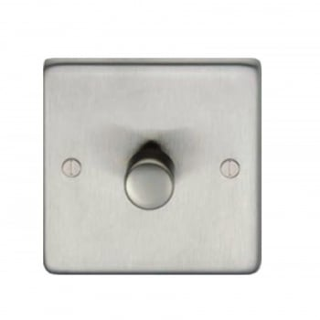 From the Anvil Single 800W Dimmer Switch - Satin Stainless Steel