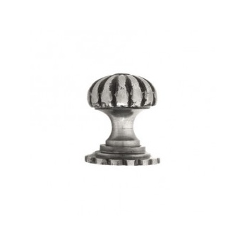 From the Anvil Small Cabinet Knob with Base - Natural Smooth