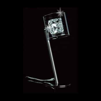 Impex Lighting Sonja K9 Clear Crystal Table Lamp in Chrome