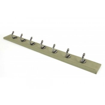 From the Anvil Stable Coat Rack - Natural Smooth & Olive Green