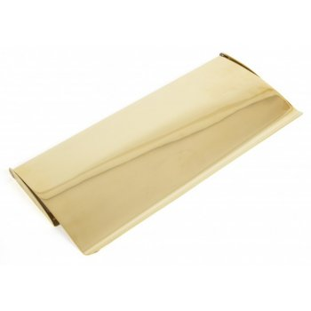 From the Anvil Standard Letterplate Cover - Polished Brass