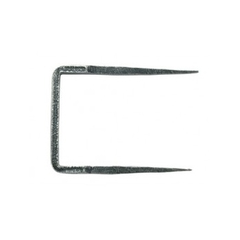 From the Anvil Staple Pin - Pewter Patina