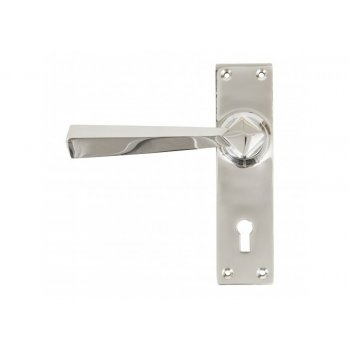 From the Anvil Straight Lever Lock Set - Polished Chrome