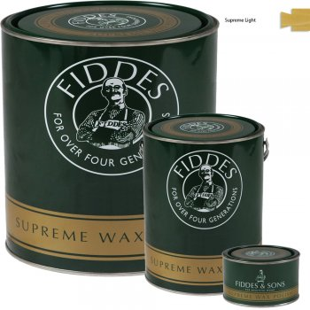 Fiddes Supreme Light/Clear Wood Wax Polish/Restorer