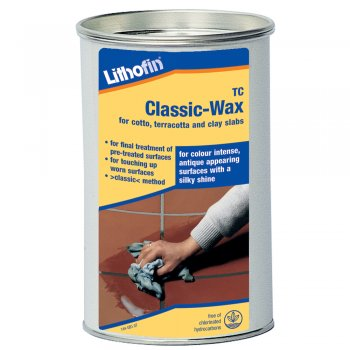 Lithofin TC Classic Wax For Cotto, Terracotta & Clay Slabs (Clear or Antique Finish)