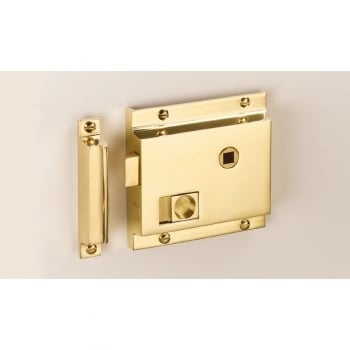 Quality Locks The Beckbury Flanged Bathroom Latch