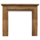 The Colorado Fine Wood Fireplace Surround - Natural Solid Sheesham