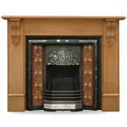 The Daisy Cast Iron Fireplace Insert