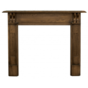 The Earlswood Fine Wood Fireplace Surround - Distressed Solid Oak