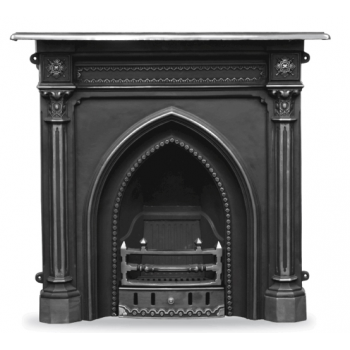 Carron The Gothic Cast Iron Combination Fireplace