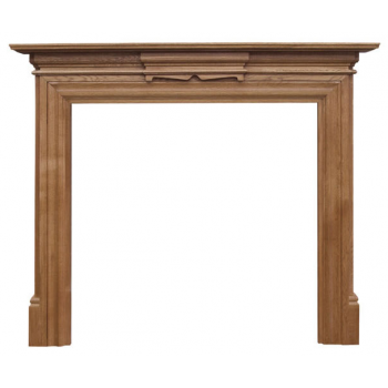 Carron The Grand Fine Wood Fireplace Surround - Waxed Oak