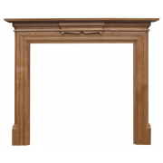The Grand Fine Wood Fireplace Surround - Waxed Oak
