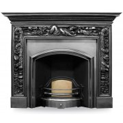 The London Plate (Wide) Cast Iron Fireplace Insert